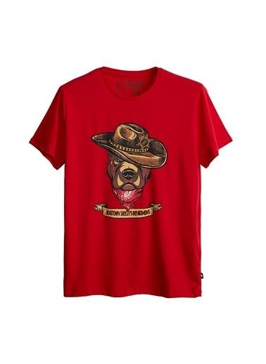 Bad Bear Erkek Tişört Sheriff 210107048-Wht Kırmızı